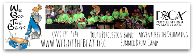 We Got the Beat Youth Percussion classes and band, Fresno, CA