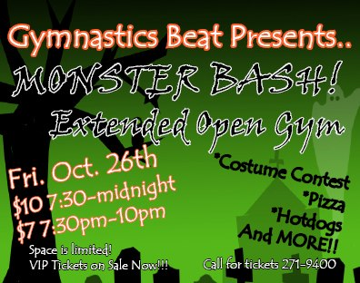 Fresno Halloween Gymnastics Beat Monster Bash 2012