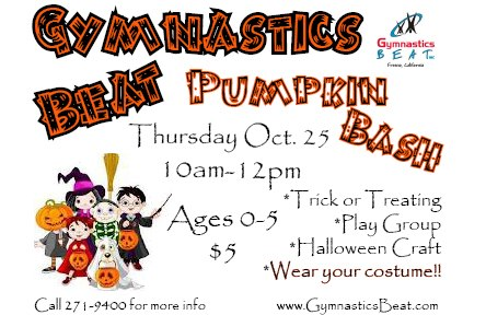 Fresno Halloween Gymnastics Beat Pumpkin Bash 2012
